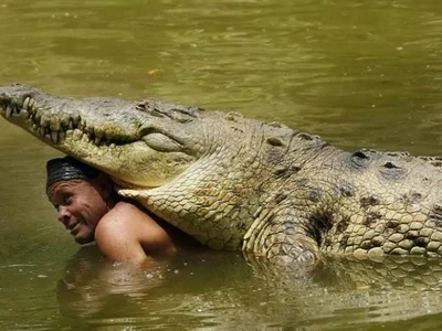 Dangerous friendship: meet the man who swims daily with a 5-meter crocodile