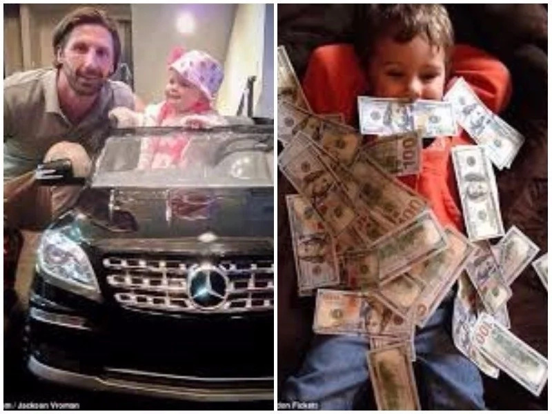 Rich toddlers! Wealthy parents take to Instagram to show off their rich babies playing with cash