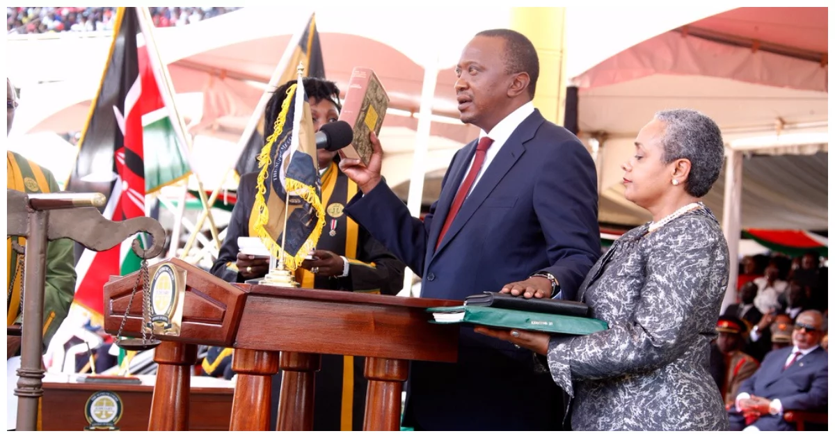 Uhuru's emotional message to Kenyans as he takes oath of office