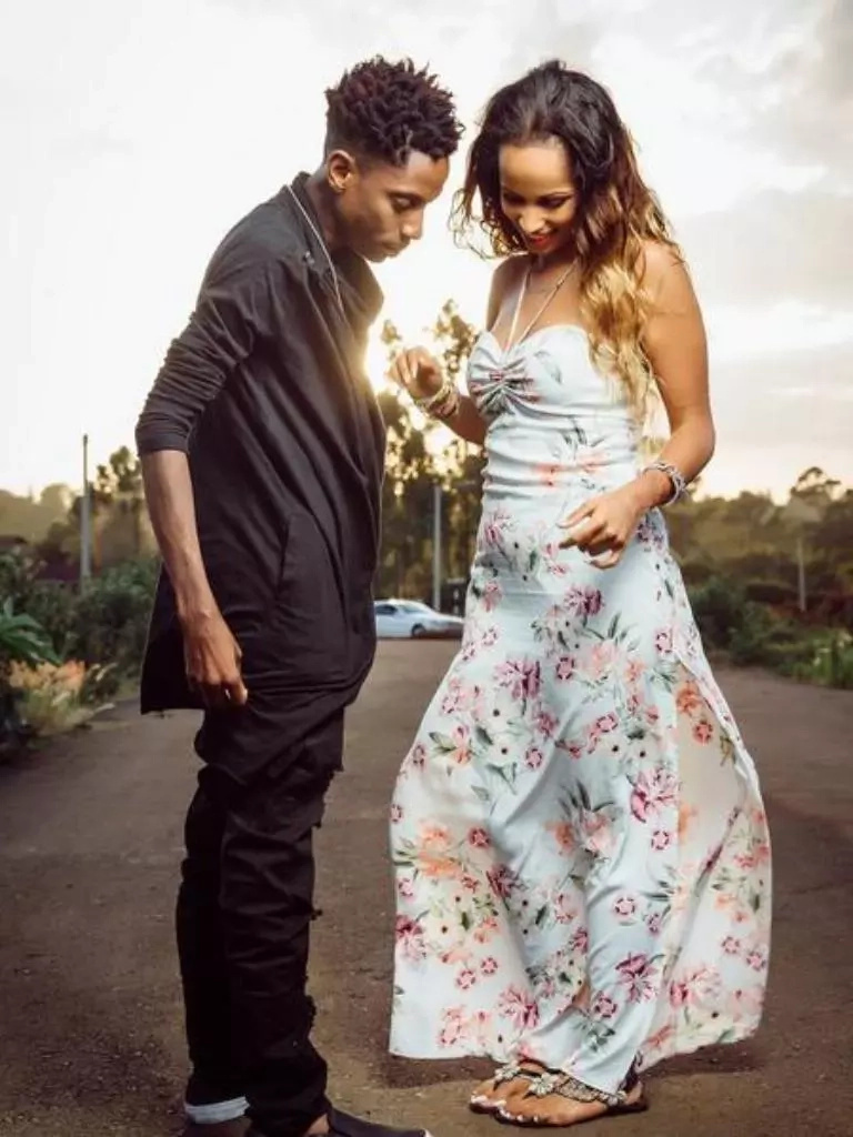 Photos don't lie, Comedian Eric Omondi's wife is Pregnant