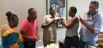 Hassan Joho gives Raila Odinga a surprise birthday bash in Ghana (photos)