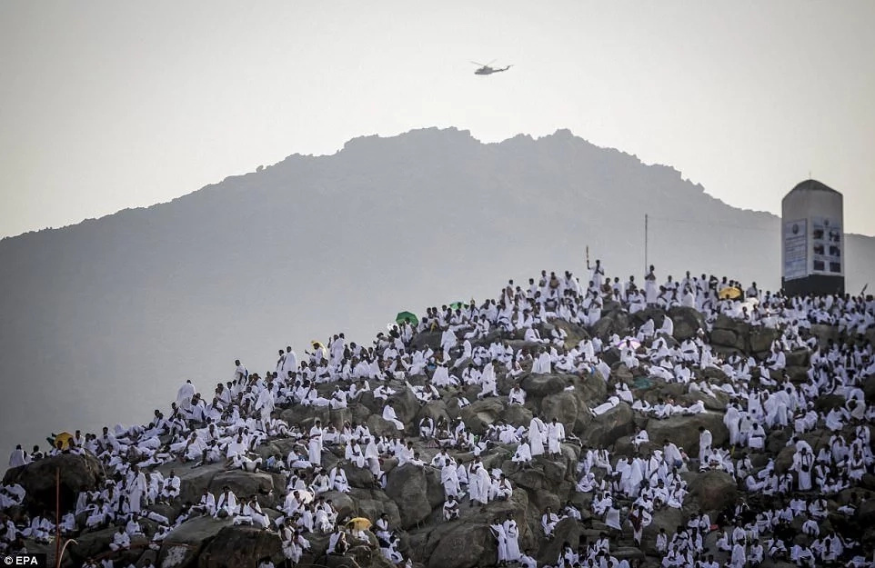It is believed that Prophet Muhammad made his last sermon at Mount Arafat. Photo: EPA