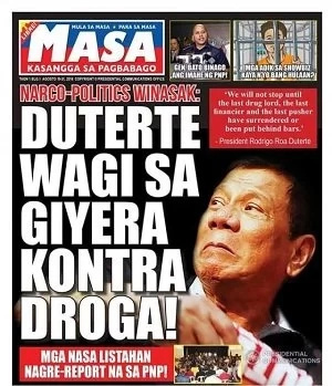 Duterte tabloid features gov't accomplishments