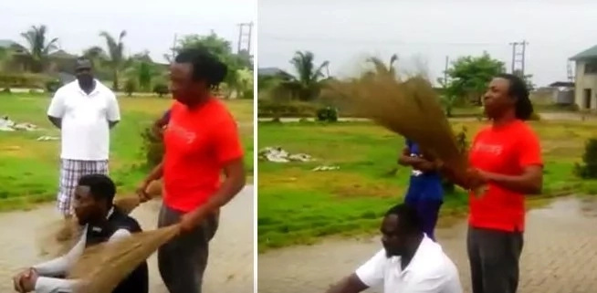 See how this man uses a broom to catch a thief (photo, video)