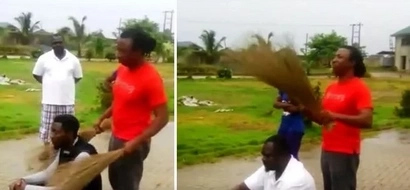 Check out how this man uses a BROOM to catch a thief! (photos, video)