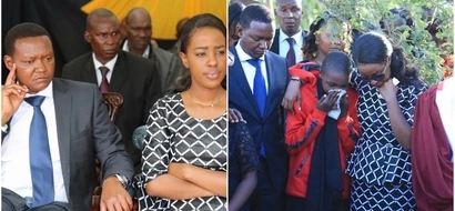Governor Alfred Mutua's wife breaks down as she says goodbye to her bodyguard (PHOTOS)