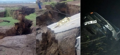 Section of Nairobi-Narok road sinks following heavy rains, motorists urged to use other routes
