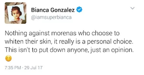 Bianca Gonzalez expresses sadness over morena celebs endorsing whitening products