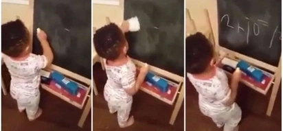Amazing! Adorable toddler becomes internet sensation after solving mathematical problem