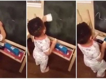 Amazing! Adorable toddler becomes internet sensation after solving mathematical problem