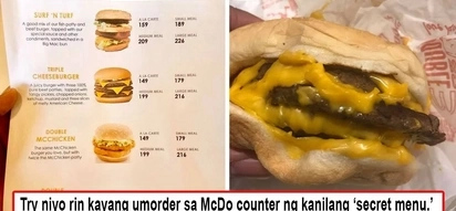 Totoo po mga baks! Netizen proves McDonalds secret menu and bravely posted it online