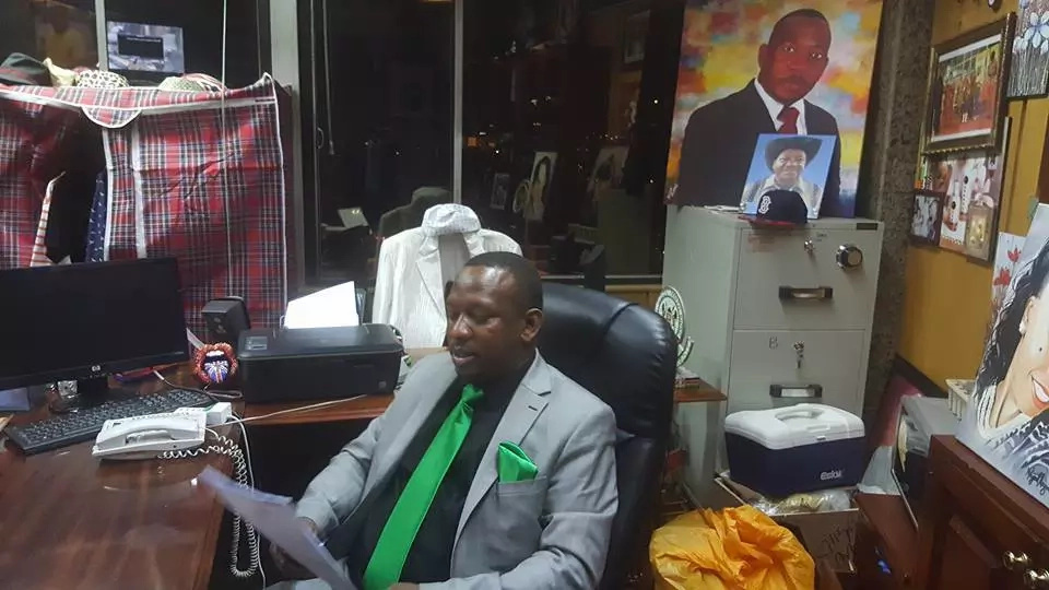 Photos: Senator Mike Sonko defends his 'cluttered' office