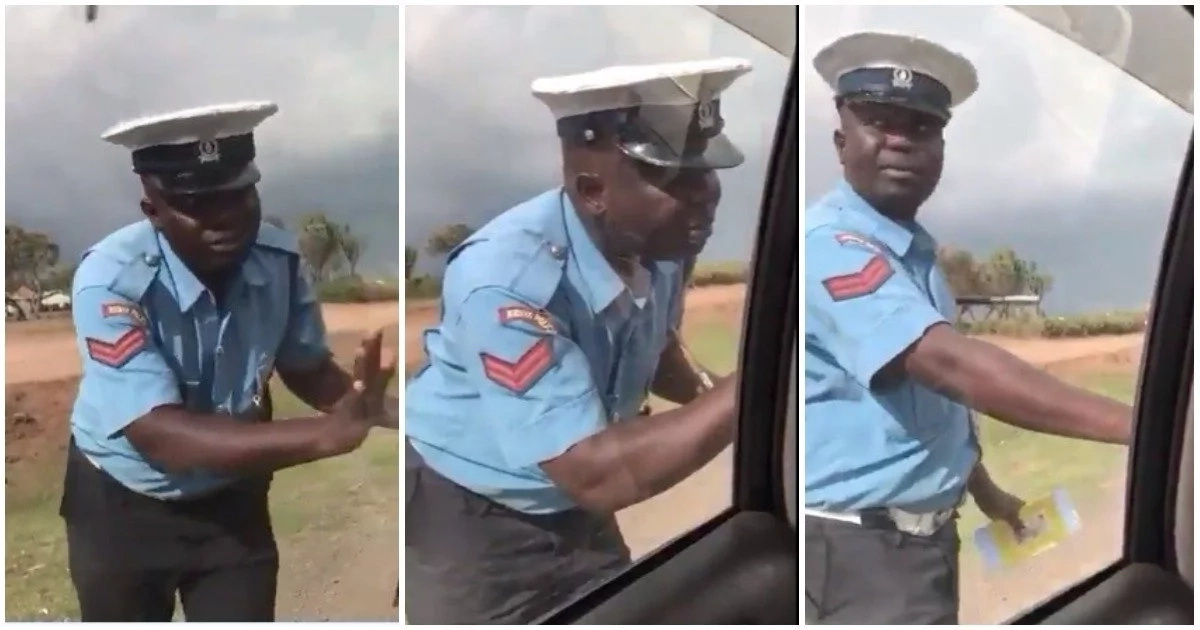 Traffic cop caught on video soliciting for bribe identified, set to be fired