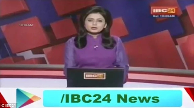 Indian news anchor reads out her husband's death on live TV