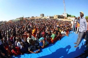 Video: Raila Odinga falls down infront of supporters as podium collapses