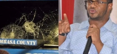 Hassan Omar's campaign vehicle attacked in Mombasa