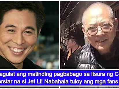 Chinese superstar Jet Li, hindi na halos makilala dahil sa matinding pagbabago ng kanyang itsura
