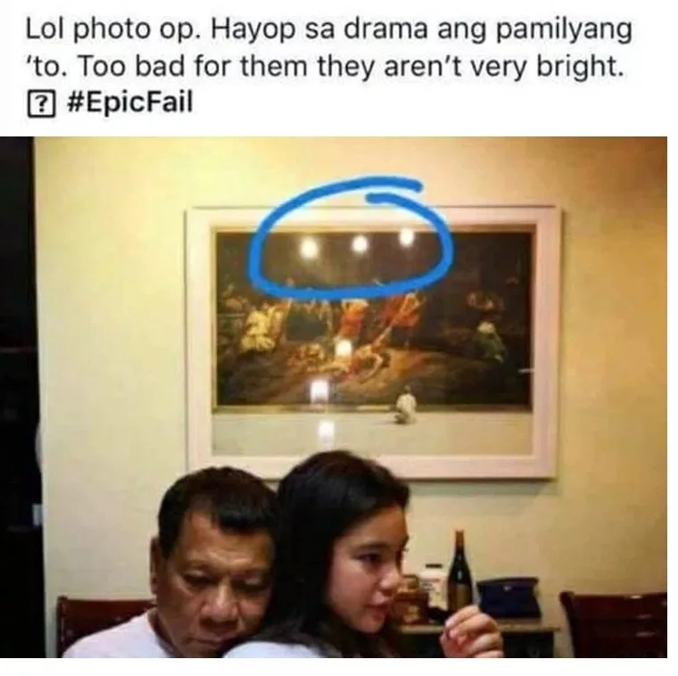 Basher accuses President Duterte of staging sweet Kitty Duterte photo for publicity; Netizens react to allegation