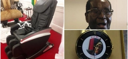 President gets luxury pen, 9-carat gold wristwatch and WHEELCHAIR as 93rd birthday gifts (photos)