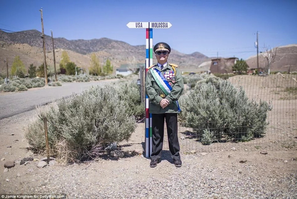 Self-declared President of Molossia Kevin Baugh. Photo: Daily Mail/Jamie Kingham