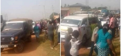 Police block hearse transporting body of ex-senior chief in dramatic incident in Bungoma