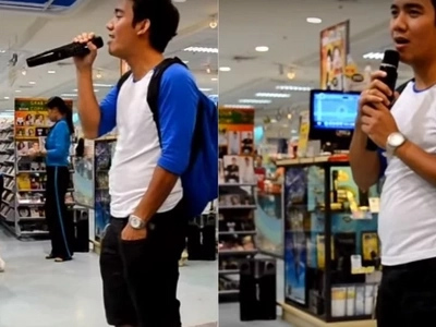 This random guy wearing a backpack did a one-man duet and surprised everyone