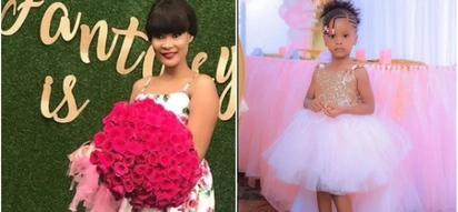 Diamond's mpango wa kando, Hamisa celebrates daughter's 3rd birthday in pomp and colour and TUKO.co.ke has photos