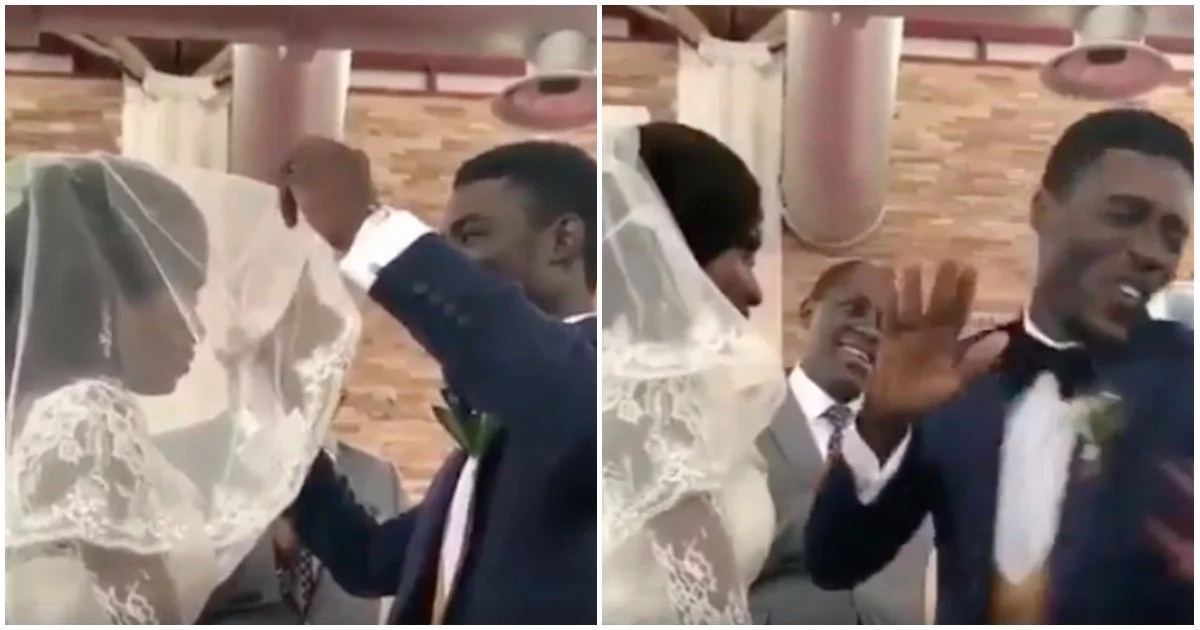 Sheer delight! This groom's heartwarming reaction after he unveils his bride will make your day