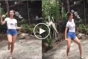 Nakakaloka! Could this be the best version of #TrumpetsDanceChallenge?
