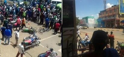 Eldoret town a no-go-zone as chaos erupt (photos, video)