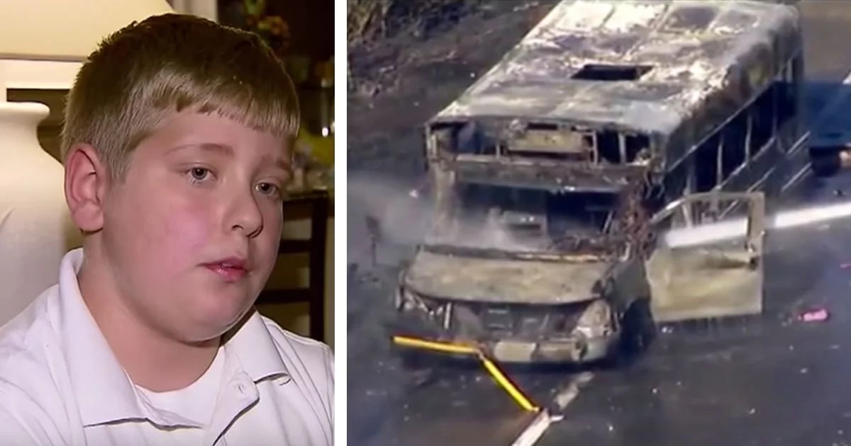 There Was A Deadly Fire In School Bus, So Boy With Autism Performed The Feat...