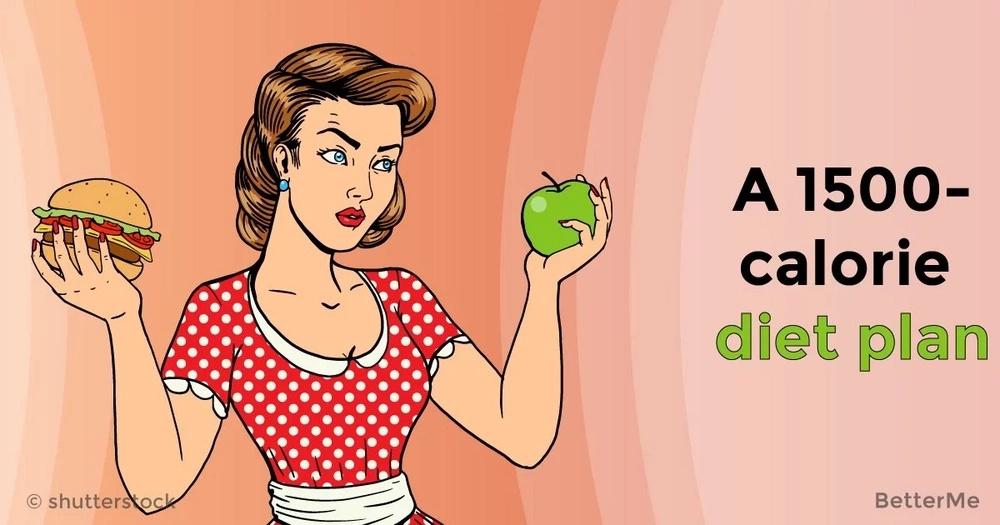 A 1500-calorie diet plan