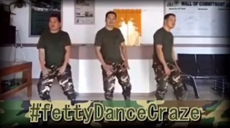 'Soldiers' dancing #FettyWapChallenge caught on video