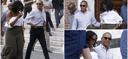 Barack and Michelle Obama are having the time of their lives during vacation in Italy (photos, video)