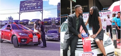 Mcheshi Eric Omondi adanganya kumnunulia gari kama zawadi mpenziwe Valentine