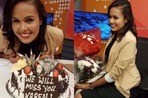 Top news anchor gets EMOTIONAL farewell after quiting (photos)