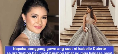 Yayamanin talaga! Isabelle Duterte's 'super bonggang' gown makes heads turn on her graduation ball