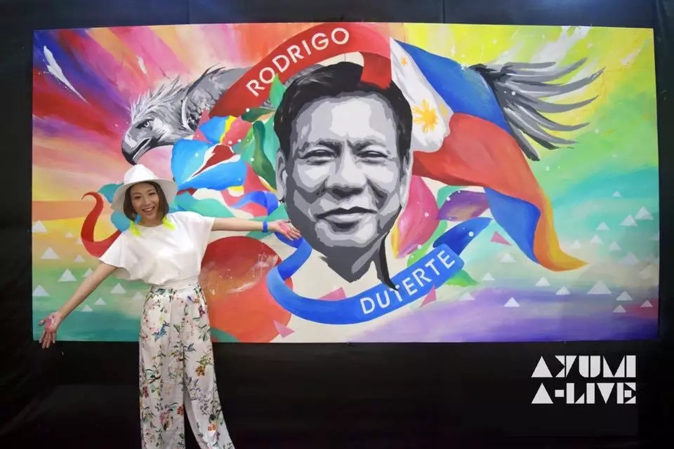Japanese artist paints portraits of President Duterte