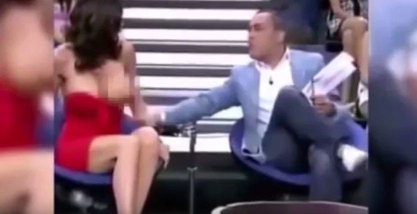 Big Breasted Beauty Champion Gets Her Boobs Exposed On Live TV