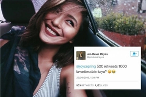 Lucky netizen scores a date with gorgeous Joyce Pring