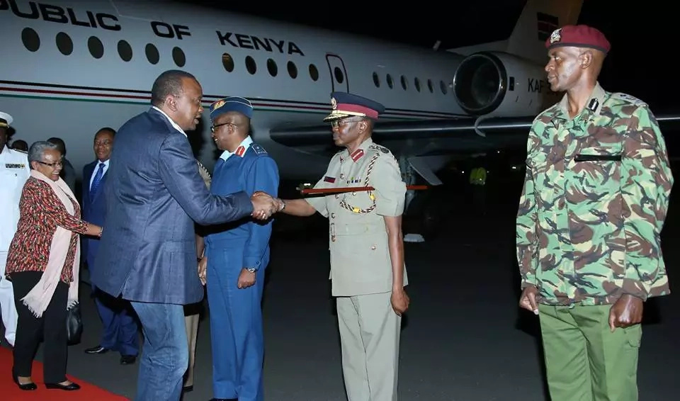 PHOTOS: Uhuru Jets Back From UN General Assembly