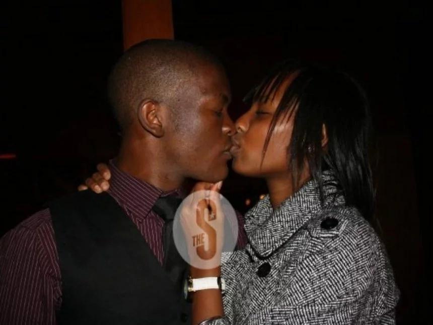 Picha ya mkaza mwana wa Rais Uhuru akimbusu mwanamume mwingine