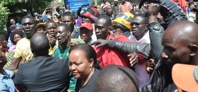 Photos: Anne Waiguru mobbed by supporters as she goes to EACC