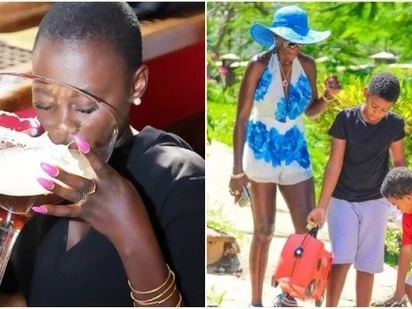I pay school fees of KSh 3,125,000 per term for my five kids without sleeping around- Akothee