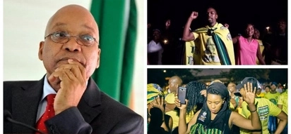 Watch as hundreds of Zuma supporters attend night vigil in Durban