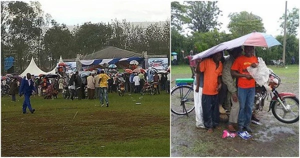 NASA rally DISRUPTED by heavy downpour