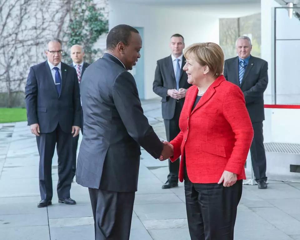 Uhuru arrives in Germany together with Margaret Kenyatta