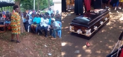 TEARS as Millie Odhiambo attends burial of her bodyguard