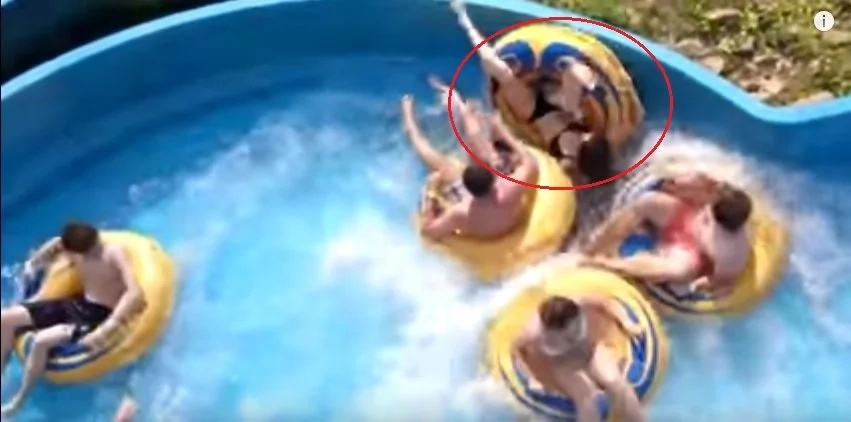 Watch Out How This Girl Flipped Off The Tube. Funny Water Slides Fails And Falls