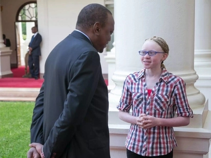 Glodalyn Kakuya meets Uhuru and Ruto at State House